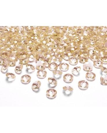 Konfety - zlaté diamanty 12mm 100ks
