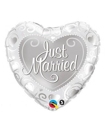 """Fóliový balón srdce- Just Married 18"""""""