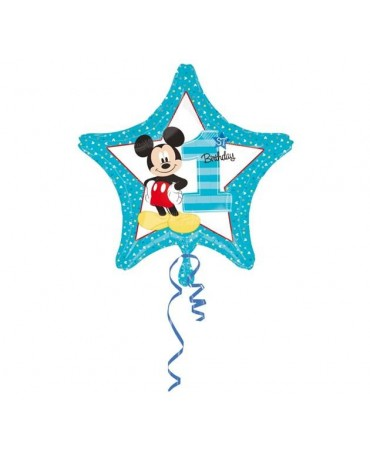 Fóliový balón Mickey číslo 1- 43cm