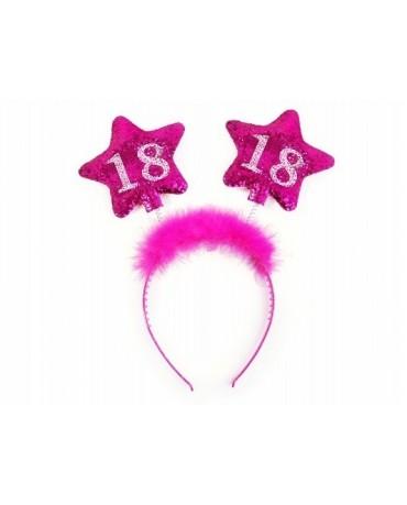 Čelenka - ružové hviezdy č.18
