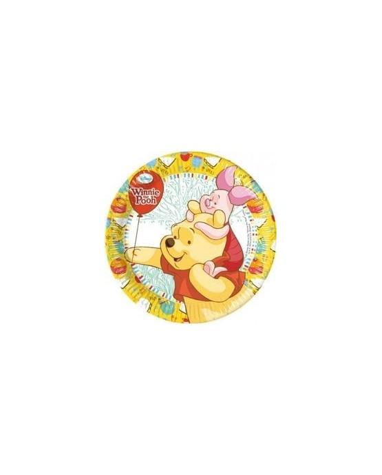 Tanieriky Macko Pu - žlté 20 cm - 8 ks