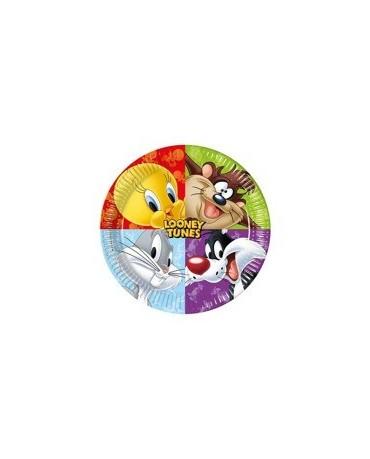 Tanieriky Looney Tunes 23 cm -8ks