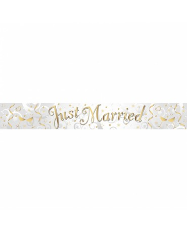 Banner Just Married 274cm