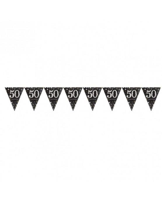 Banner vlajok - 50.narodeniny 4m