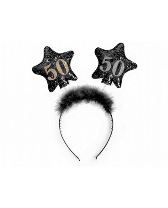 Čelenka - čierne hviezdy  č.50