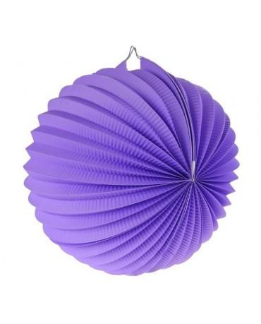 Dekorácia guľa fialová 25cm 1ks