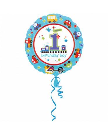 Fóliový balón Birthday boy č.1 43cm