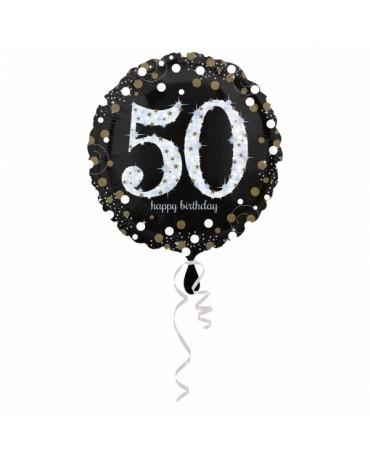 Fóliový balón číslo 50- zlatý 43cm