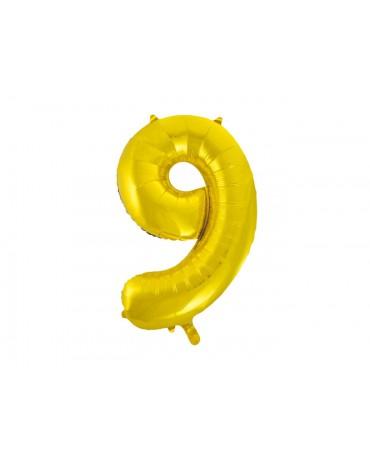 Fóliový balón číslo 9 -zlatý 86cm