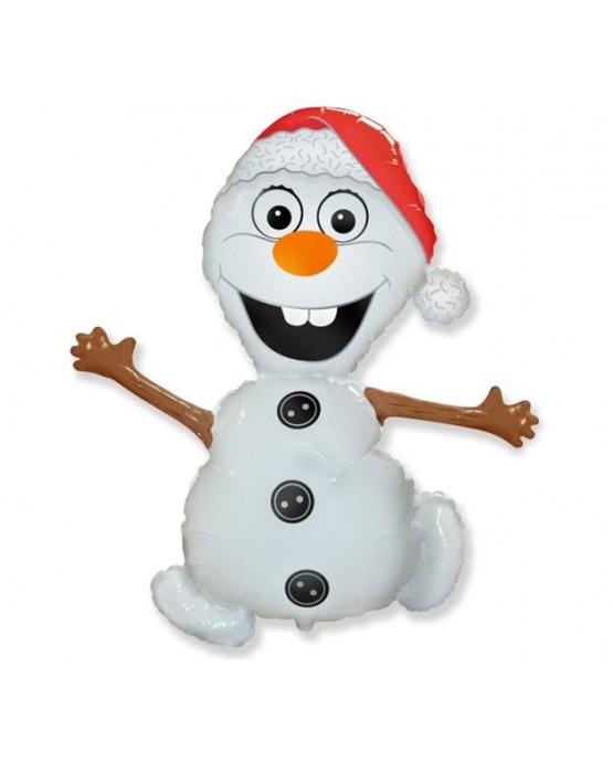 "Fóliový balón snehuliak 24"""