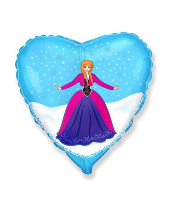 """Fóliový balón srdce- dievča Anna 18"""""""