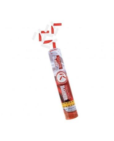 Konfety - bielo- červené stuhy 30cm