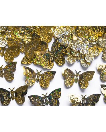 Konfety  motýle - zlaté 15g
