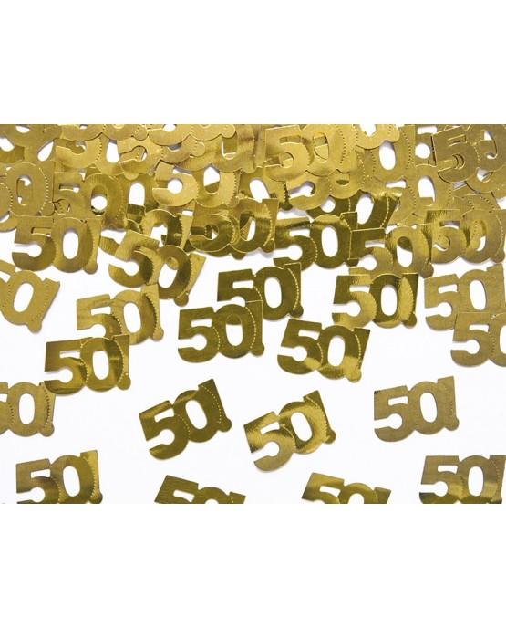 Konfety číslice 50 - zlaté 15 g