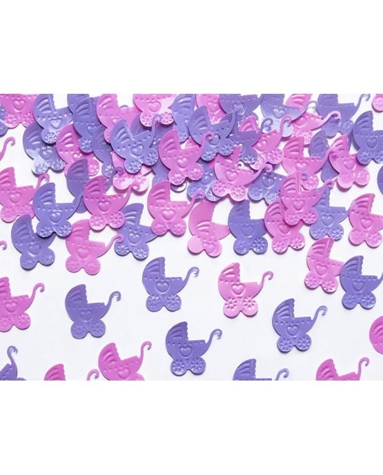 Konfety -ružové kočíky 15g
