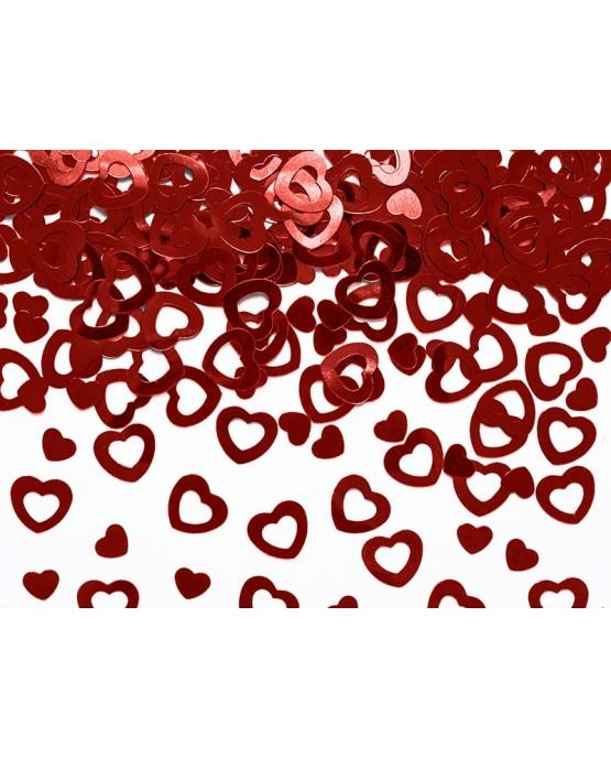 Konfety srdcia - červené 0,5 cm - 15 g