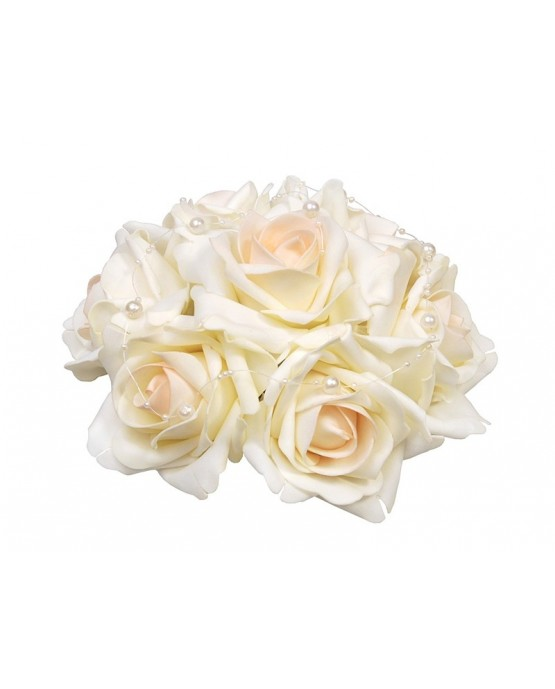 Kytica ruží - krémová  20cm