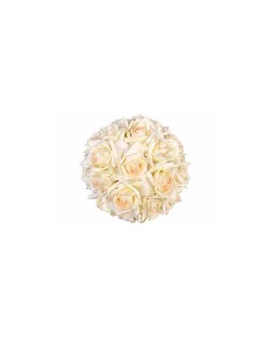 Kytica ruží - krémová  30cm