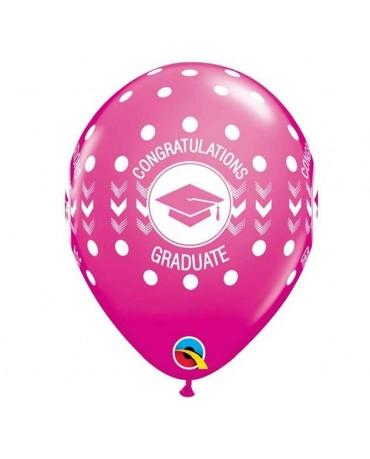 "Latexové balóny Congratulations- ružové 11"" 10ks"
