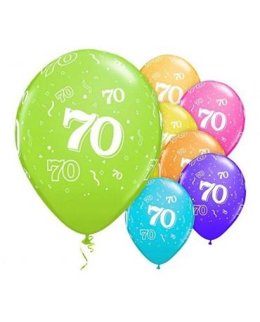 """Latexové balóny číslice 70 - 11"""" 6ks"""