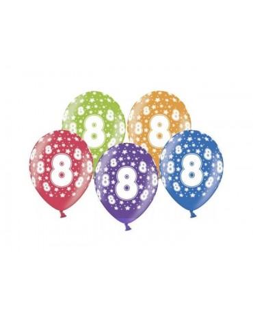 Latexové balóny číslo 8-hviezdy 30cm 10ks