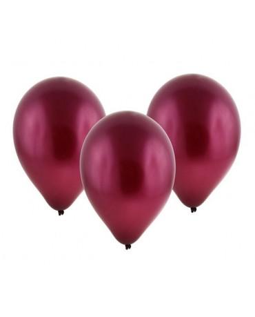 """Latexové balóny metalické- bordové 11"""" 10ks"""