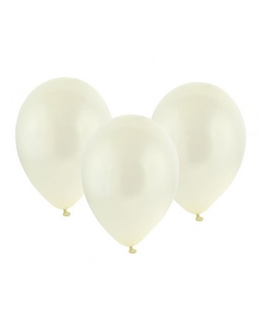 "Latexové balóny metalické- krémové 11"" 10ks"