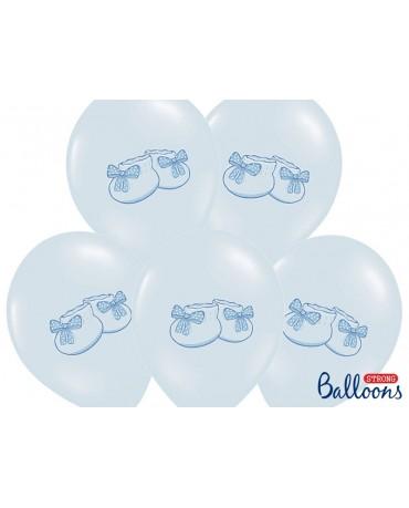 Latexové balóny -modré topánočky 30cm10ks