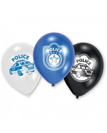"""Latexové balóny Polícia 9"""" 6ks"""