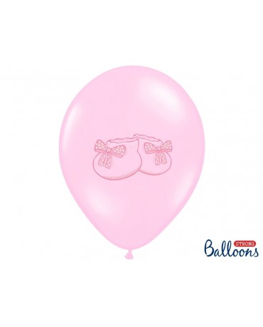 Latexové balóny -ružové topánočky 30cm 10ks