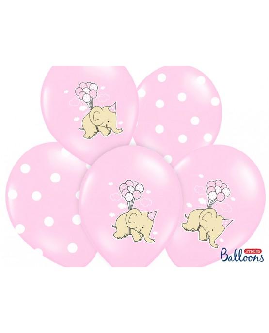 Latexové balóny Sloník -ružové 30cm 10ks