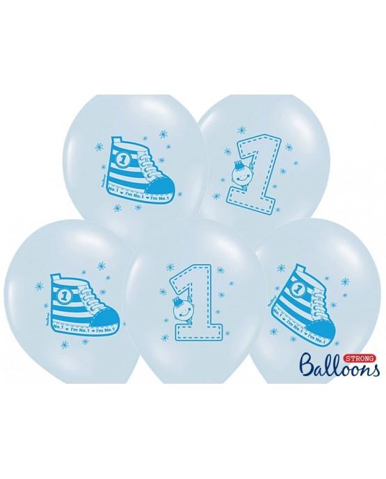 Latexové balóny -topánka a číslo -modré 30cm 10ks