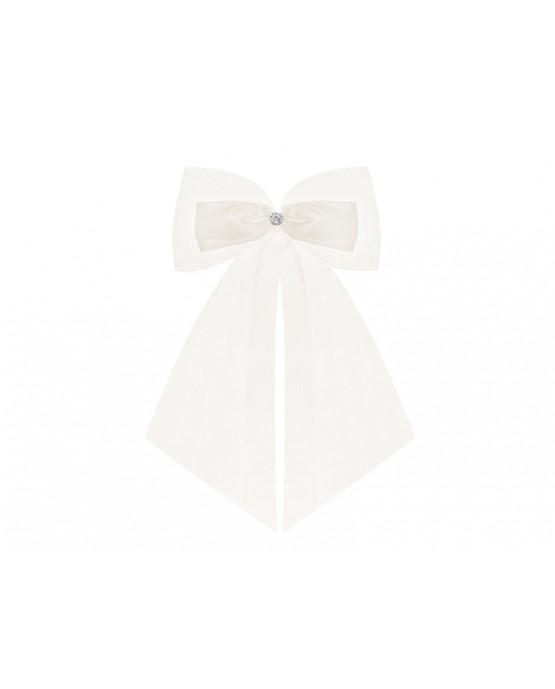 Ozdoba - mašľa  - krémová  2ks
