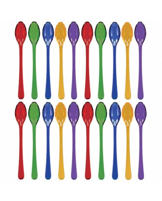 Plastové lyžičky -farebné 20ks