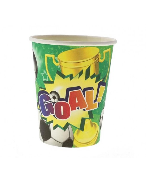 Poháre futbal - Goal!  180/200ml - 6 ks