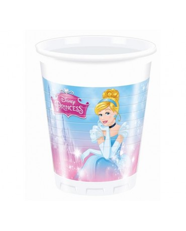 Poháre Princess 200ml - 8 ks