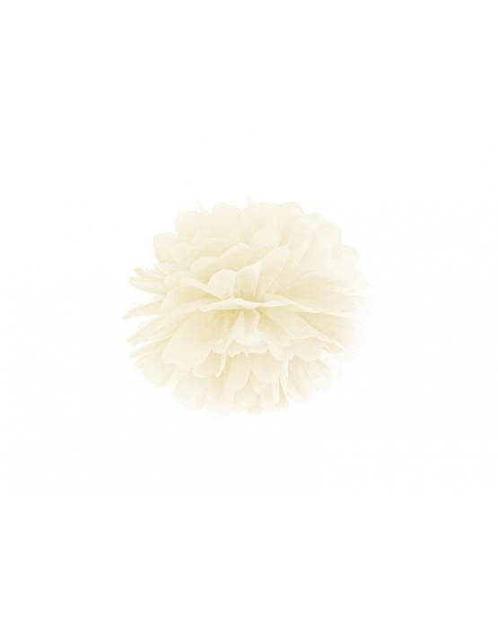 Pompón -krémový 25cm