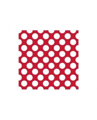 Servítky - červené -biele bodky 33 cm - 20 ks