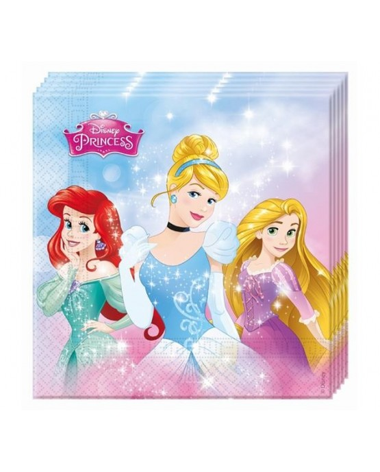 Servítky Disney Princess 33cm 20ks