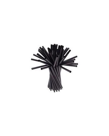 Slamky -čierne 25 cm - 40ks