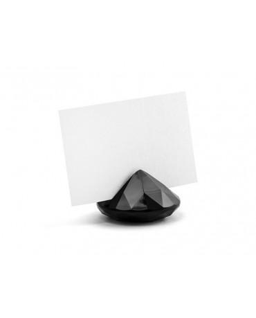 Stojan na menovky- diamant - čierny 10ks