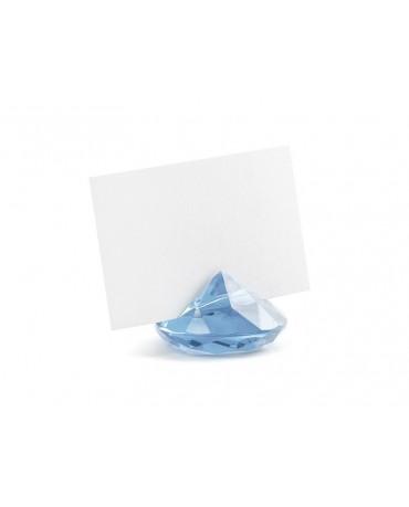 Stojan na menovky- diamant - modrý 10ks