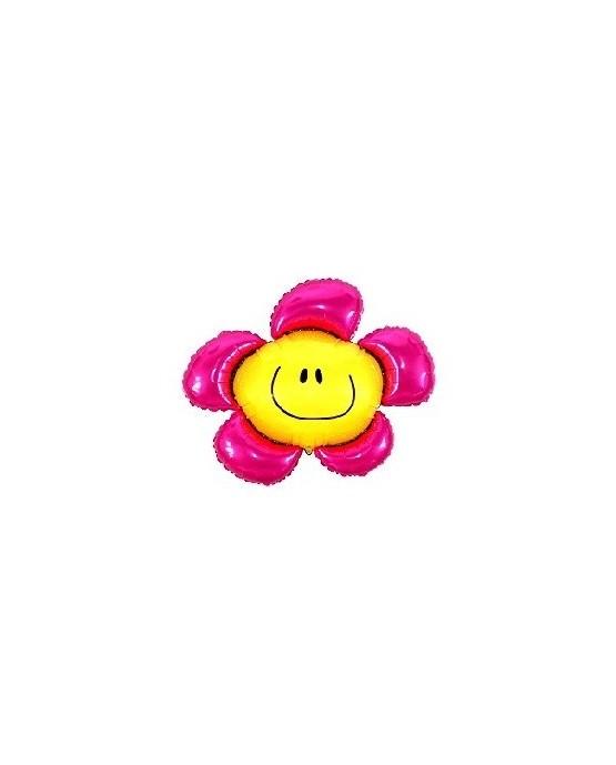 """Fóliový balón  Kvet - ružový 14"""""""