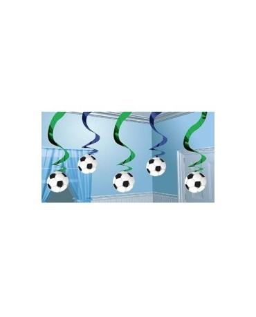 Špirály - futbalová lopta 61cm 5ks