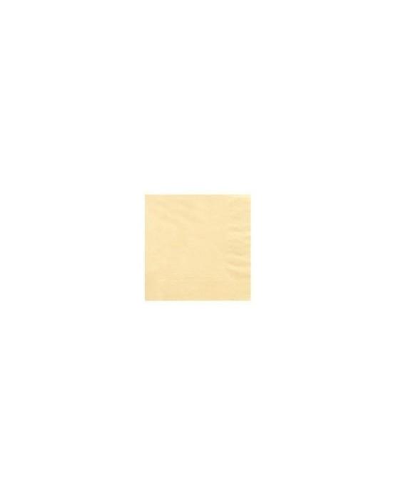Servítky krémové - 3 vrstvové 33cm 20ks