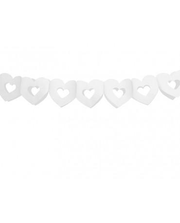 Girlanda biele srdcia 13x300cm