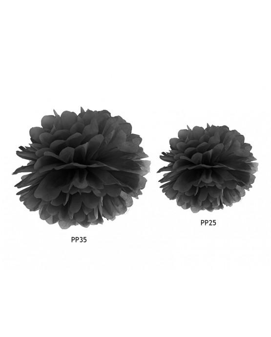 Pompón -čierny 25cm