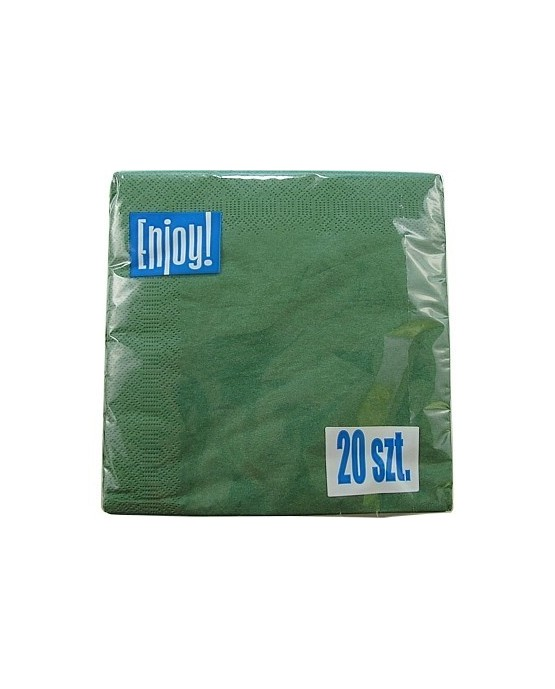 Servítky - zelené 33 cm - 20ks