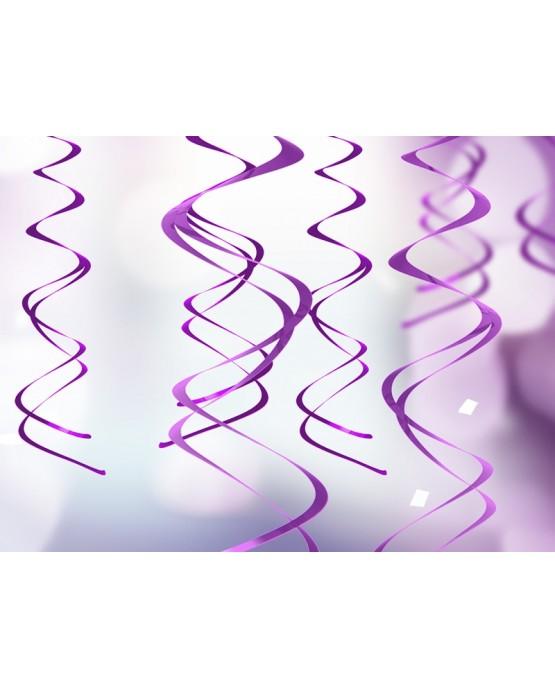 Špirály -fialové 60 cm - 5ks