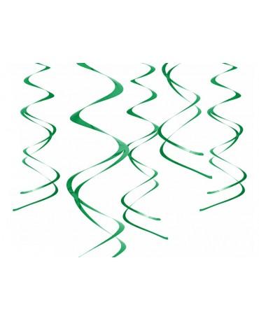 Špirály -zelené 60 cm - 5ks